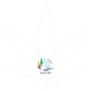 CBD oil UK. Cannabidiol oil supplement. KaiQi CBD logo on hemp leaf 3.